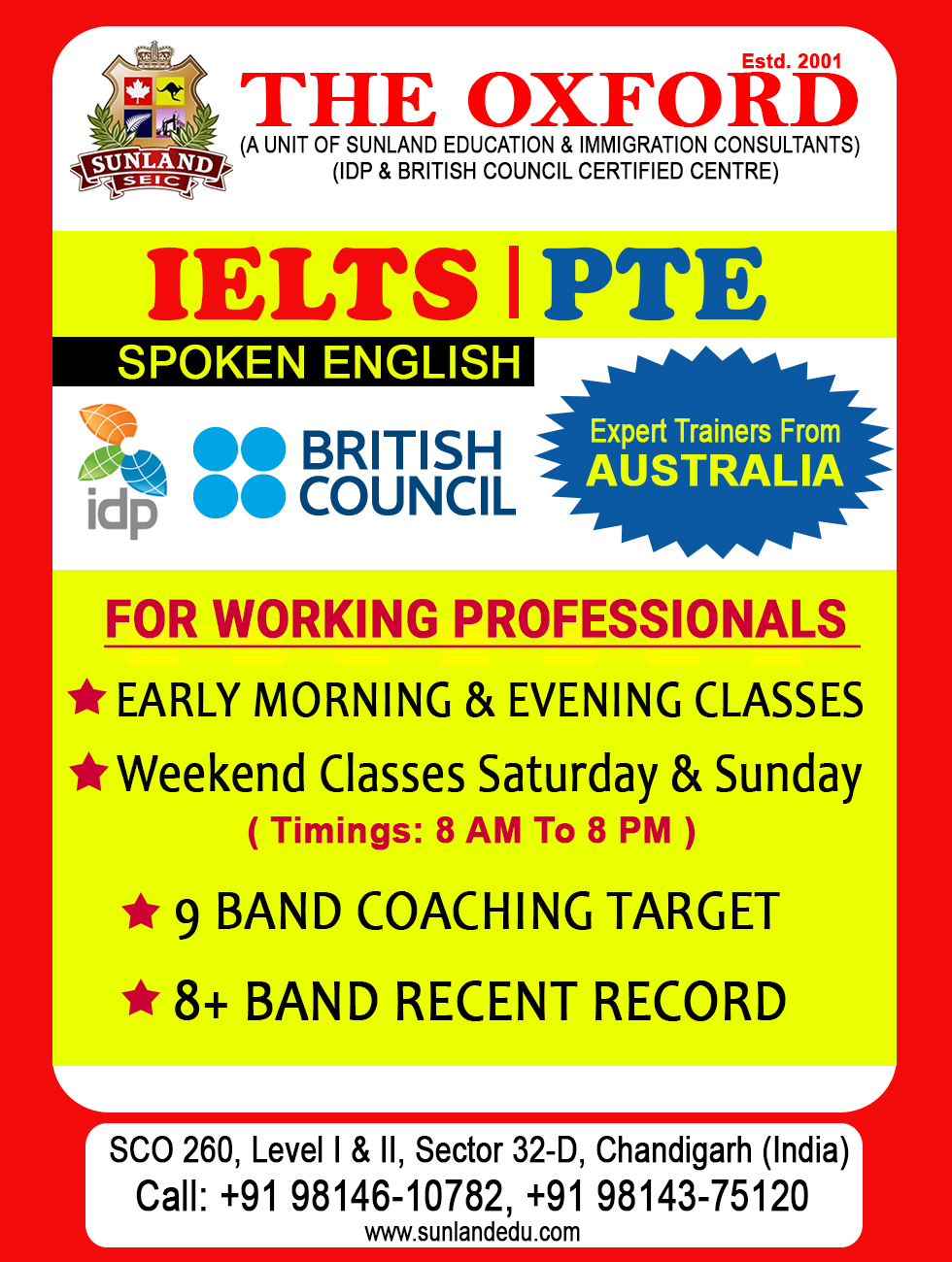 PTE Classes, IELTS Coaching Centre in Chandigarh